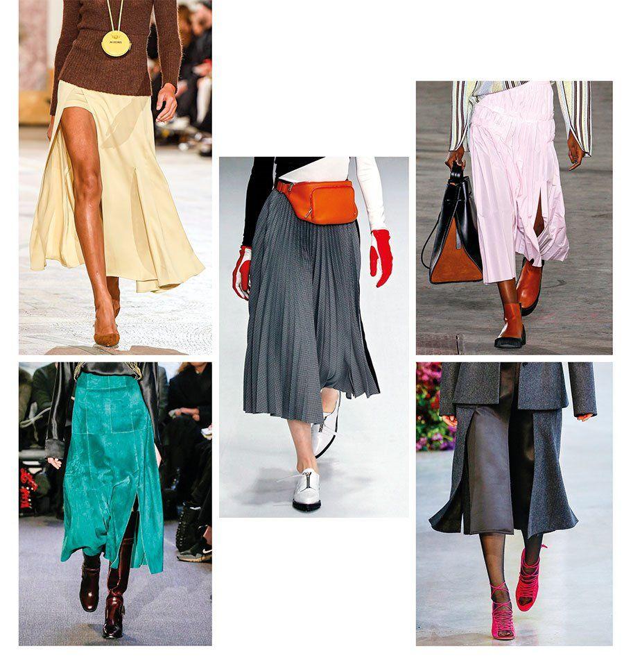Falda midi tendencia moda 2019
