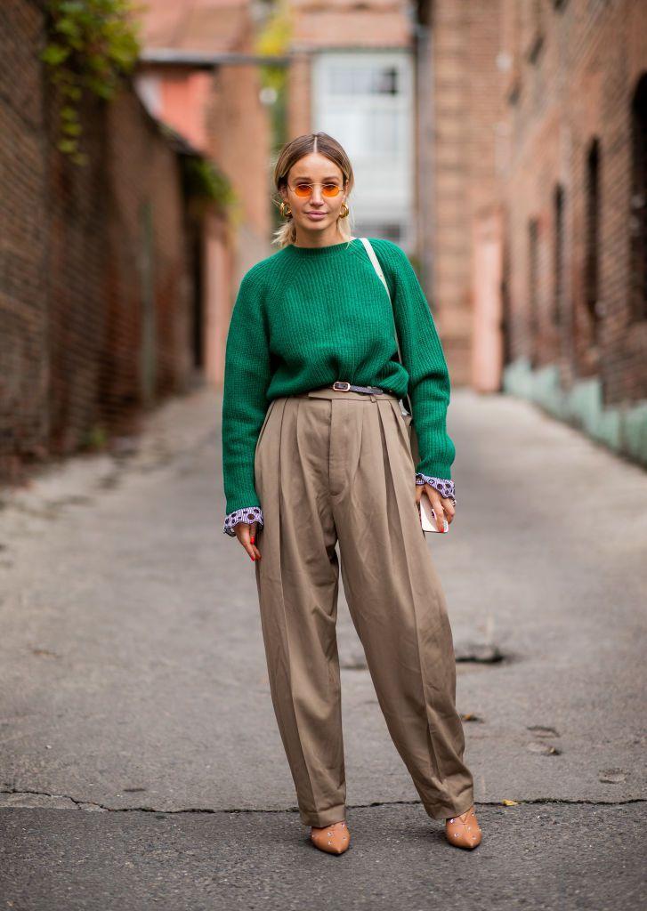 anouki-kaladze-wearing-green-knit-brown-high-waist-pants-is-news-photo-1056959520-1544444119