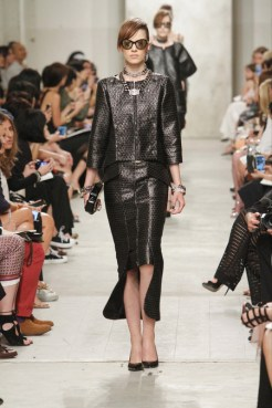 CHANEL resort 2014 Singapore - Black skirt and top suit