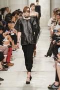 CHANEL resort 2014 Singapore - black top and black pants