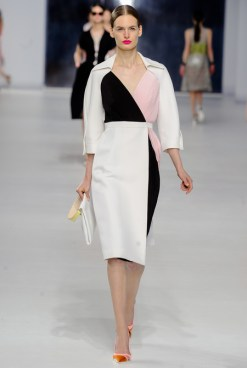 Dior Cruise 2014 - Black and white and pink dress