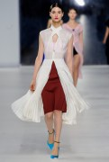 Dior Cruise 2014 - White jacket and brown skirt