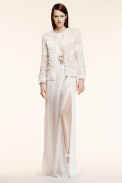 Altuzarra Resort 2014 - White dress with ruffled jacket