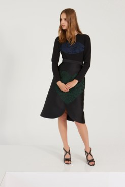 Stella McCartney Resort 2014 - Black top and skirt with lip and heart