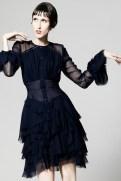 Zac Posen Resort 2014 - Short longsleeved dress