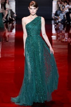 Elie Saab Fall 2013 Couture - Green dress IV