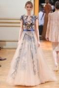 Zuhair Murad Fall 2013 Couture - Beige and blue dress
