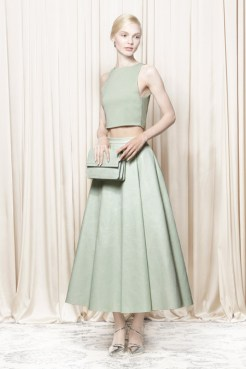 Alice and Olivia spring 2014 - green top and skirt