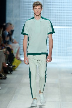 Lacoste Spring 2014 - Men light and dark green polo and pants