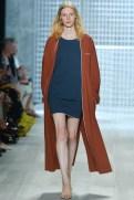 Lacoste Spring 2014 - Women brown long sweater navy blue dress