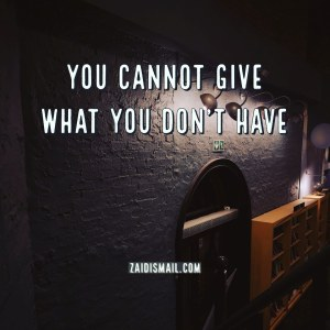 Read more about the article You give what you have
