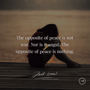 Read more about the article Elusive peace…