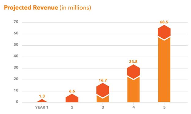 DigiBuild projected revenue chart