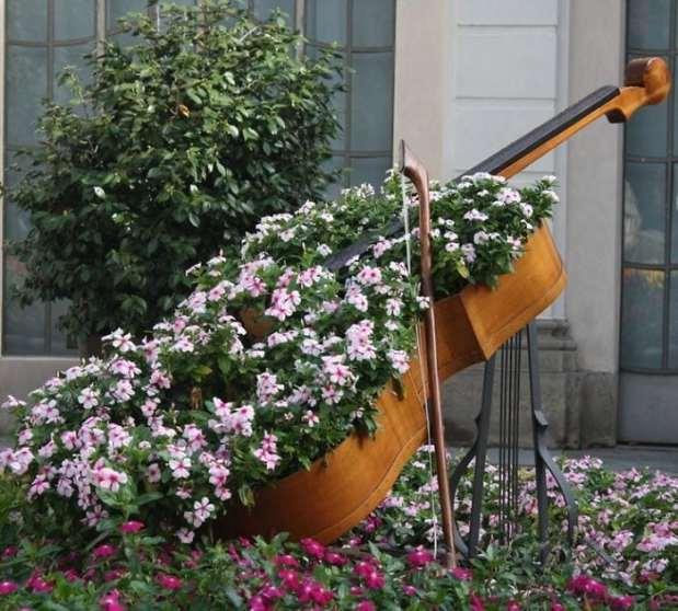 цветя в контрабас