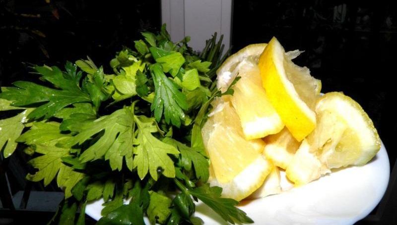 магданоз и лимон