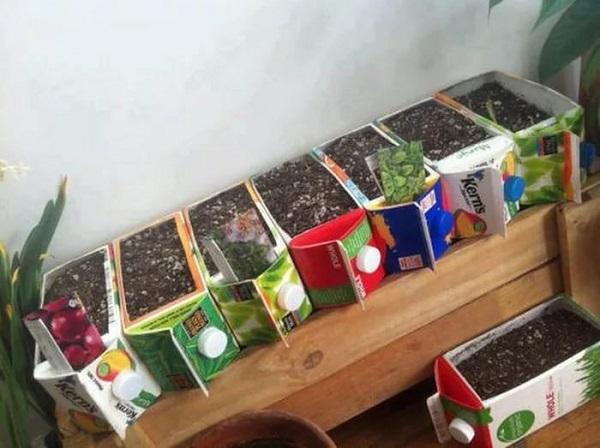 артикули, изработени от кутии за сок