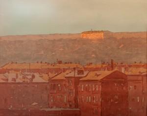 Григоров В. 'Харків на заході сонця', пап.акв