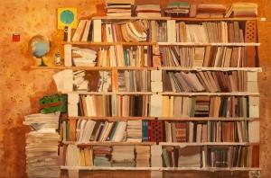 Гнилицький О. 'Книжкові полиці'. Із серії 'Дача', 2005, п.о