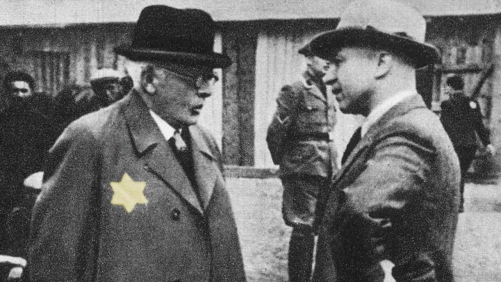 Chaim Mordechaj Rumkowski i Hans Biebow w łódzkim gettcie