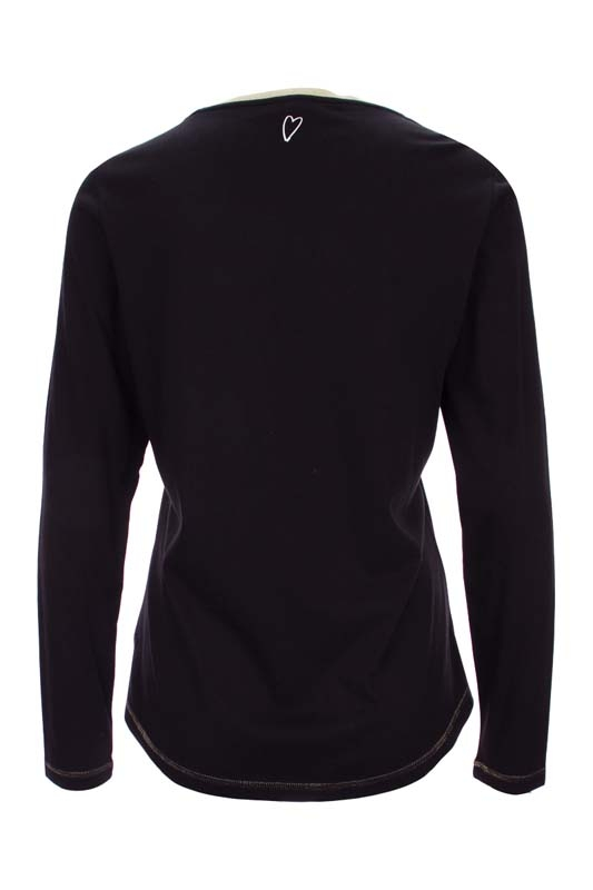Dámské černé triko s potiskem a dlouhým rukávem Kenny S 2