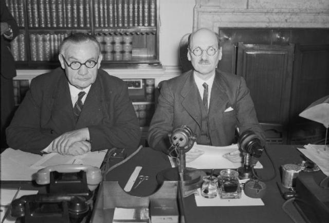 Sir Ernest Bevin and Clement Attlee