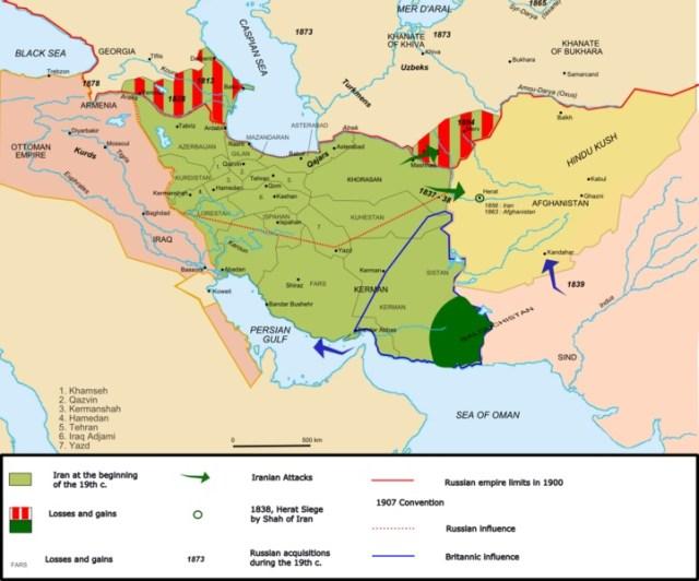 Iran map 1900