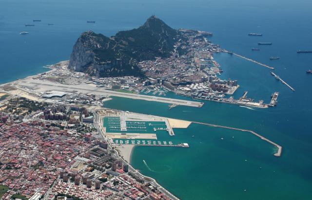 Gibraltar, vue aérienne
