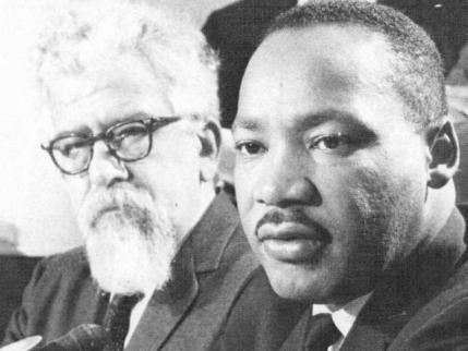 Abraham Heschel avec Martin Luther King