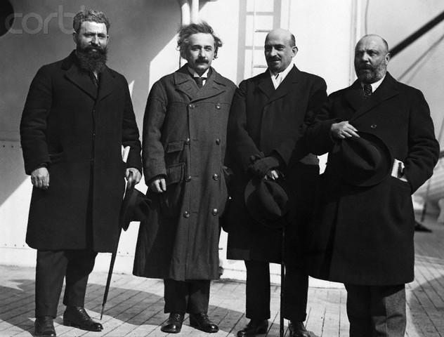 Menahem Ussishkin, à droite