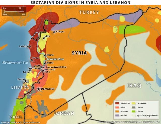 Carte Ethnie de la Syrie
