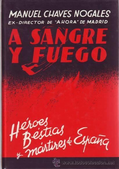 """Résultat de recherche d'images pour """"A feu et à sang de Manuel Chaves Nogales"""""""