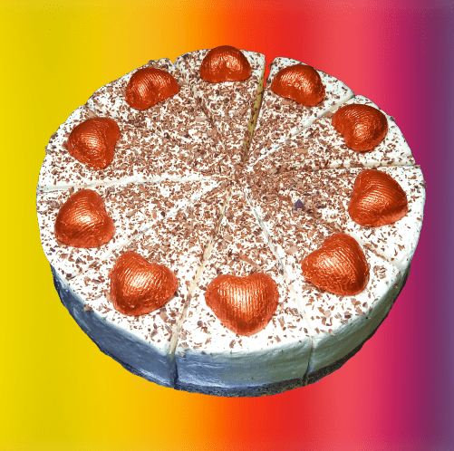 Baileys flavour cheesecake - simple decoration