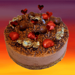 Chocolate and Salted Caramel - simply decorated cheesecake