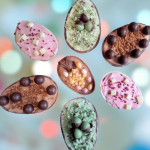Easter egg cheesecakes