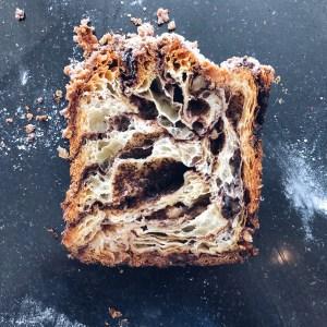Slice of Chocolate Babka.