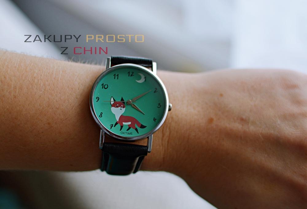 Zegarek z liskiem