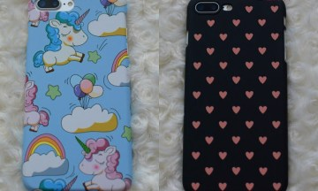 Etui case na iPhone 7 Plus – jednorożce serca
