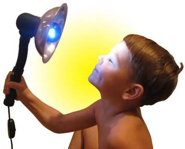Синяя лампа для прогревания применение для лечения болезней носа и ушей, польза и вред