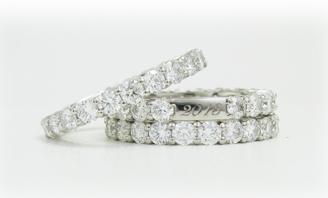 ジュエリーリフォームで綺麗なメレダイヤを使ったプラチナのシンプルな指輪