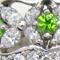 デマントイドガーネットと綺麗なメレダイヤを使った幅広オーダーメイドジュエリー