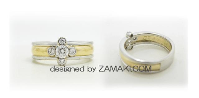 形見の指輪をそのままデザインに組み込んでリフォームしたリング
