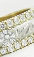 リフォーム制作した地金がコンビ使いのダイヤモンド幅広リング