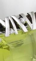 リフォーム制作した、モダンなデザインのレモンクォーツのペンダント