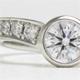 婚約指輪・エンゲージから当店オリジナルリング枠へダイヤを載せ換え