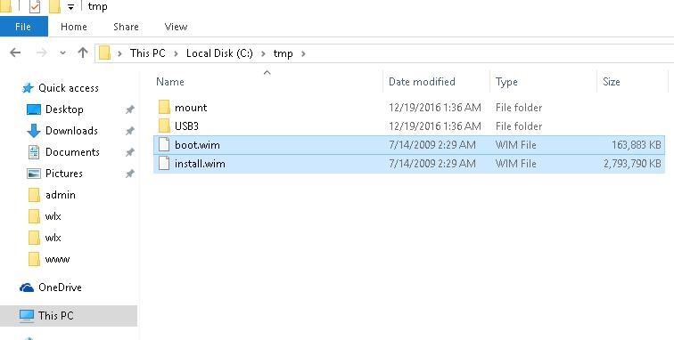 Windows 7 boot.wim and install.wim