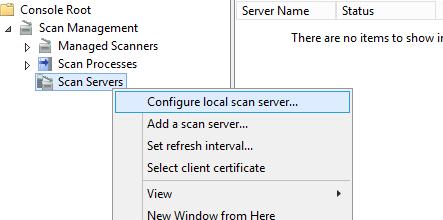 Configure local scan server