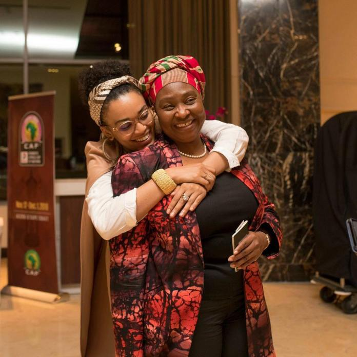 Pictures of Pearl Thusi and Yvonne Chaka Chaka hanging out in Ghana