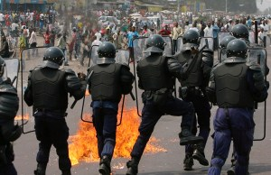 student protests in DRC