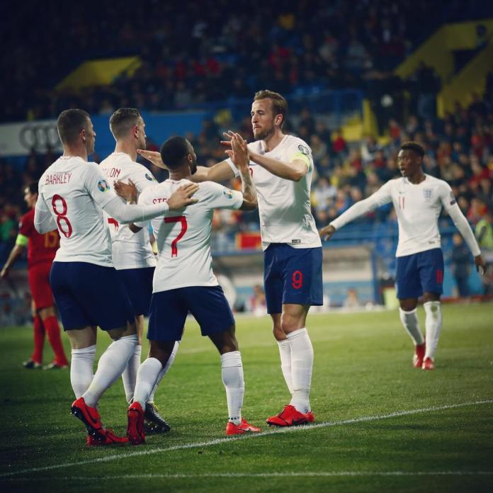 England continue with fine form as they thump Montenegro