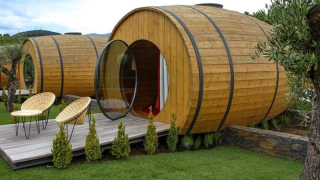 giant wine barrel